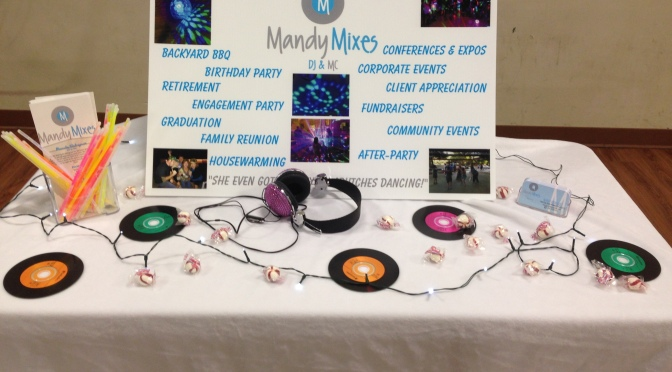 BOOM! Mandy Mixes – DJ & MC sponsors the Good Ol Gals Business EXPLOSION! – January 30, 2014