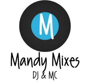 MandyMixes Logo Black Record