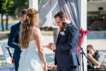Exchanging rings. Microphone from DJ MandyMIxes
