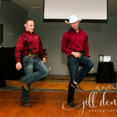Groom and Best Man line dancing to Copperhead Road